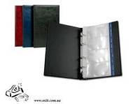 Визитница на кольцах Axent Xepter 2503-01 150х255мм 80 визиток черная