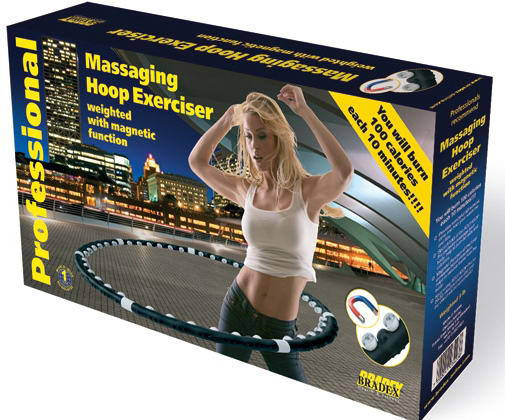 Массажный обруч халахуп Massaging Hoop Exerciser Professional Bradex с магнитами, фото 2
