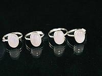 """Кольцо в серебре из розового кварца """"Очаровашка"""""""