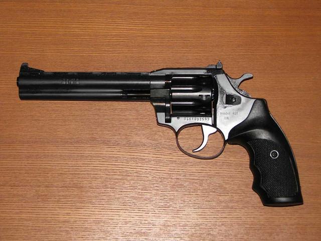 Револьвер под патрон флобера ALFA model 461 рукоять пластик