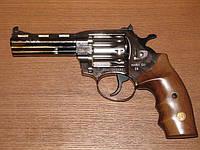 Револьвер под патрон флобера ALFA model 441 (никель, дерево)
