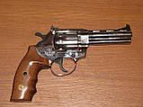 Револьвер под патрон флобера ALFA model 441 (никель, дерево), фото 2