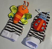 Носочки с погремушками бабочка+божья коровка