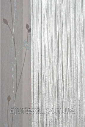 Шторы нити белые (однотонные) Елит, фото 2