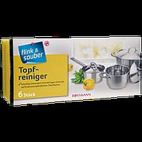 Губка для мытья посуды Flink&Sauber Topfreiniger, 6 шт