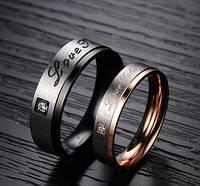 Парные обручальные кольца Стражи Искренности позолота, розовое золото 750 проба, нержавеющая медицинская сталь