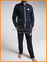 Мужской спортивный костюм Nike трикотажный цвет темно-синий