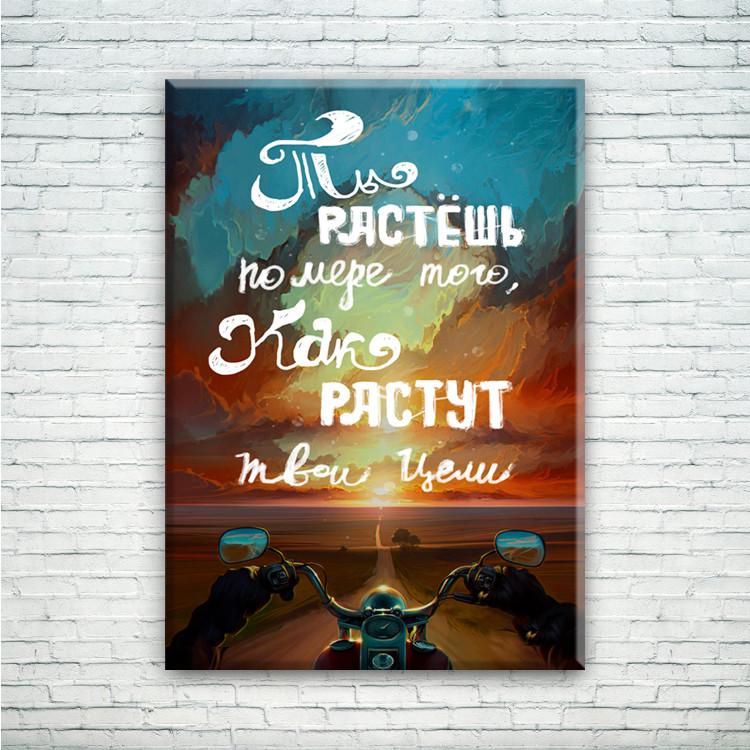 Мотивирующий постер/картина Ты растешь по мере того, как растут твои цели