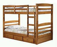 Деревянная 2-х ярусная кровать Баюн