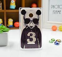 Чехол силиконовый бампер для Nokia 435/532 с рисунком Панда, фото 1