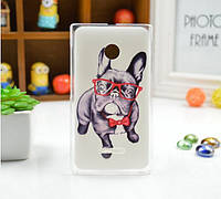 Чехол силиконовый бампер для Nokia 435/532 с рисунком Собака в очках, фото 1