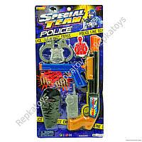 Набор полицейского, оружие на присосках, наручники (ОПТОМ) 16828