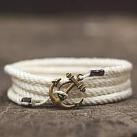 Браслет с якорем Marine Rope White