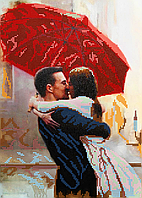 Схема для вышивки бисером POINT ART Любовь под дождем, размер 25х35 см