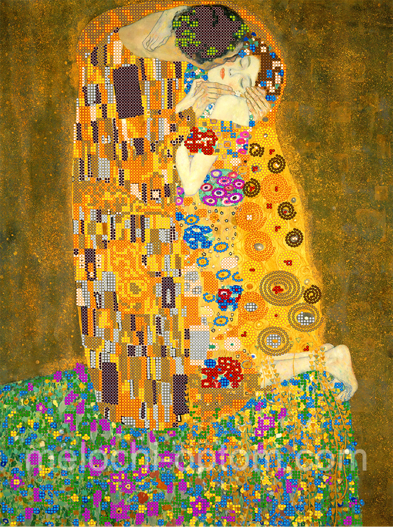 Схема для вышивки бисером POINT ART Поцелуй, размер 30х40 см
