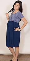 Платье для беременных и кормящих Вояж синяя полоса