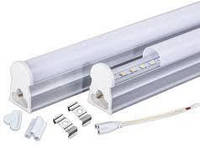 Светодиодный линейный Led светильник Т5 1200мм 4200К с кнопкой на корпусе, фото 1