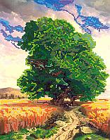 Схема для вышивки бисером POINT ART Пшеничное поле, размер 25х32 см