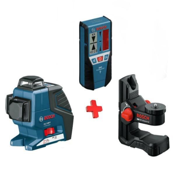 Лазерный нивелир Bosch GLL 3-80 P + BM1 + LR2 в L-Boxx, 060106330A