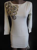 Платье-туника с завязкой слева