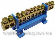 Нулевая шина (планка) на DIN рейку 12п