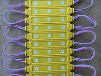 Светодиодный модуль SMD 5050 3 светодиода 120* желтый IP67 Код.58691