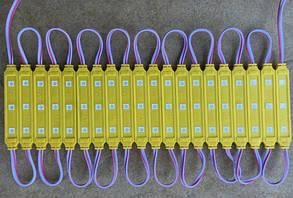 Светодиодный модуль SMD 5050 3 светодиода 120* желтый IP67 Код.58691, фото 2