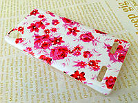 TPU чехол накладка для Lenovo A6010 Pro розовые цветы