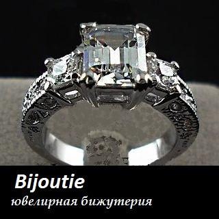 Кольцо Шарм ювелирная бижутерия покрытие родий, декор Swarovski elements