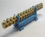 Нулевая шина (планка) на DIN рейку 15п