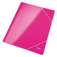 Папка на резинке Leitz, А4 WOW, розовий металлик