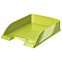 Лоток горизонтальный Leitz  WOW, зеленый металлик