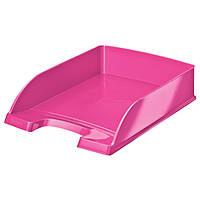 Лоток горизонтальный Leitz  WOW, розовый металлик