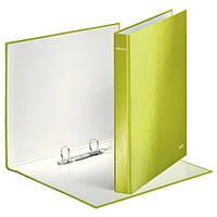 Папка с 2 кольцами, 25мм, А4+, Leitz WOW, зеленый металлик