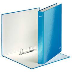 Папка с 2 кольцами, 25мм, А4+, Leitz WOW, синий металлик