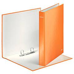 Папка с 2 кольцами, 25мм, А4+, Leitz WOW, оранжевый металлик