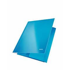 Папка на резинке Leitz, А4 WOW, синий металлик