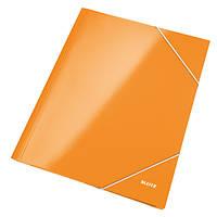 Папка на резинке Leitz, А4 WOW, оранжевый металлик