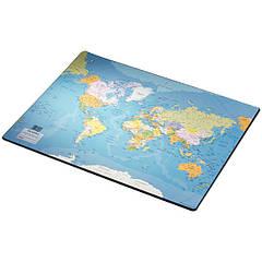 Подложка с картой мира  400 x 530 мм
