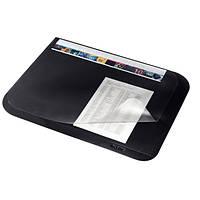 Подложка для письм. стола с прозрачной пленкой 500 x 650 мм, черный
