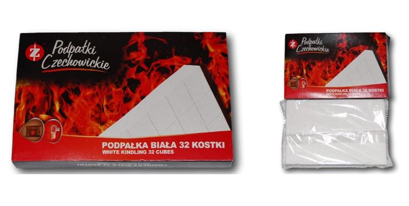 Разжигатели огня Czechowice в картонной упаковке белые 32 шт.