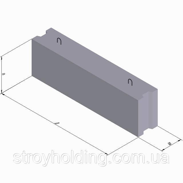 Бетонные фундаментные блоки ФБС 12.5.6, фото 1
