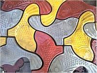 Плитка тротуарная ФЭМ «Рыбка»
