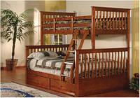 Деревянная 2-х ярусная кровать Буратино 17