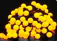 Гирлянда LED Ball light 10м желтого цвета уличные гирлянды шарики 100 led новогодние, фото 1