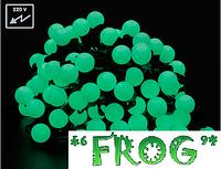 Светодиодная гирлянда шарик LED 10м внешние уличные гирлянды шарики 100led , фото 1