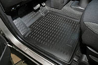 Коврики в салон для Mazda 323 '98-03 задние, резиновые, черные (Petex)