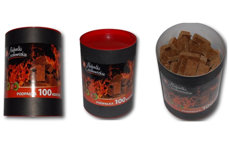Разжигатели огня Czechowice в тубе 100 шт.
