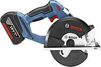 Аккумуляторная дисковая пила по металлу Bosch GKM 18 V-LI, 06016A4001
