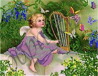 Схема на ткани (заготовка, рисунок) под вышивку бисером Райская мелодия